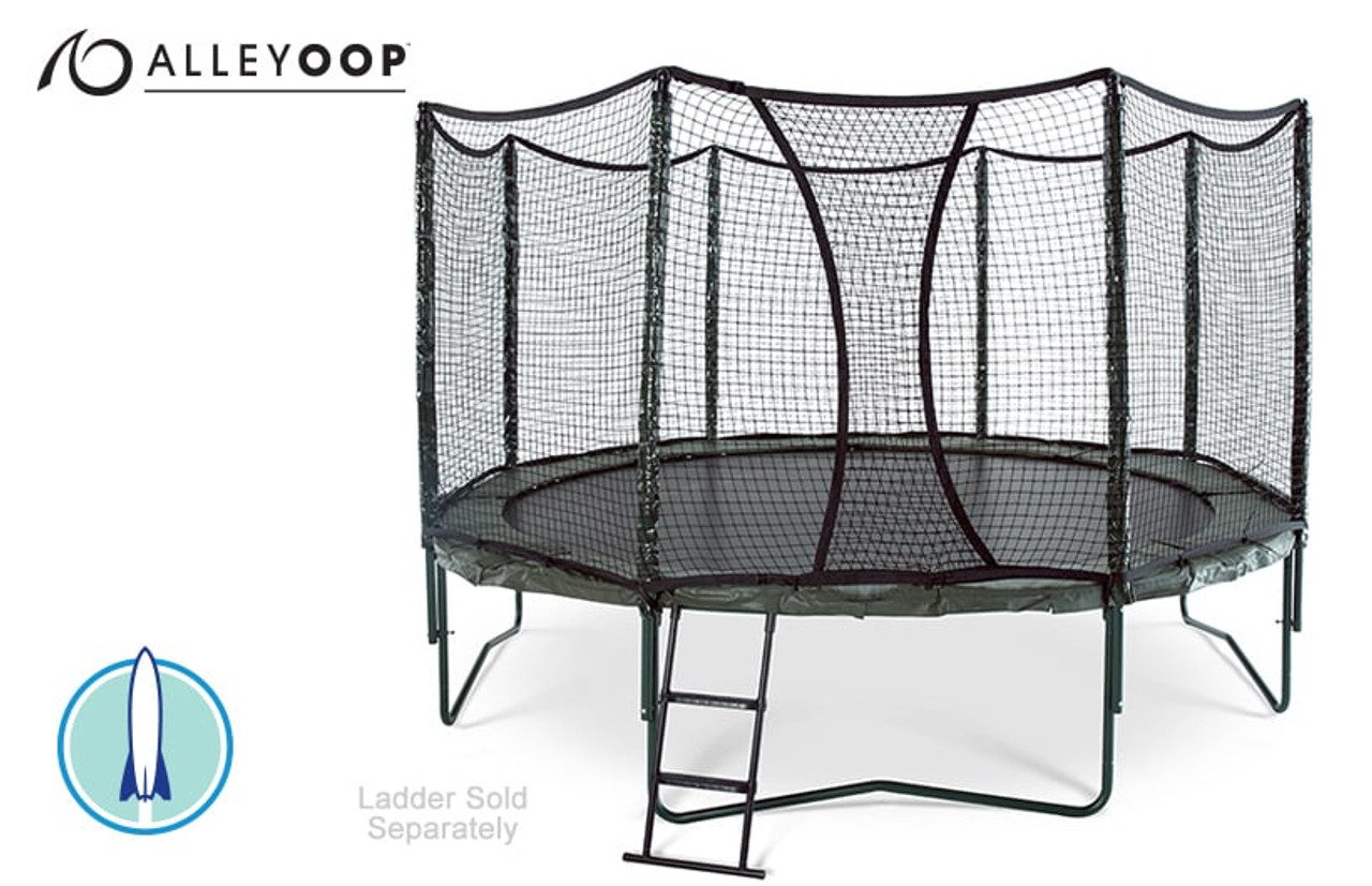 Alleyoop Powerbounce 14 Ft Trampoline With Enclosure