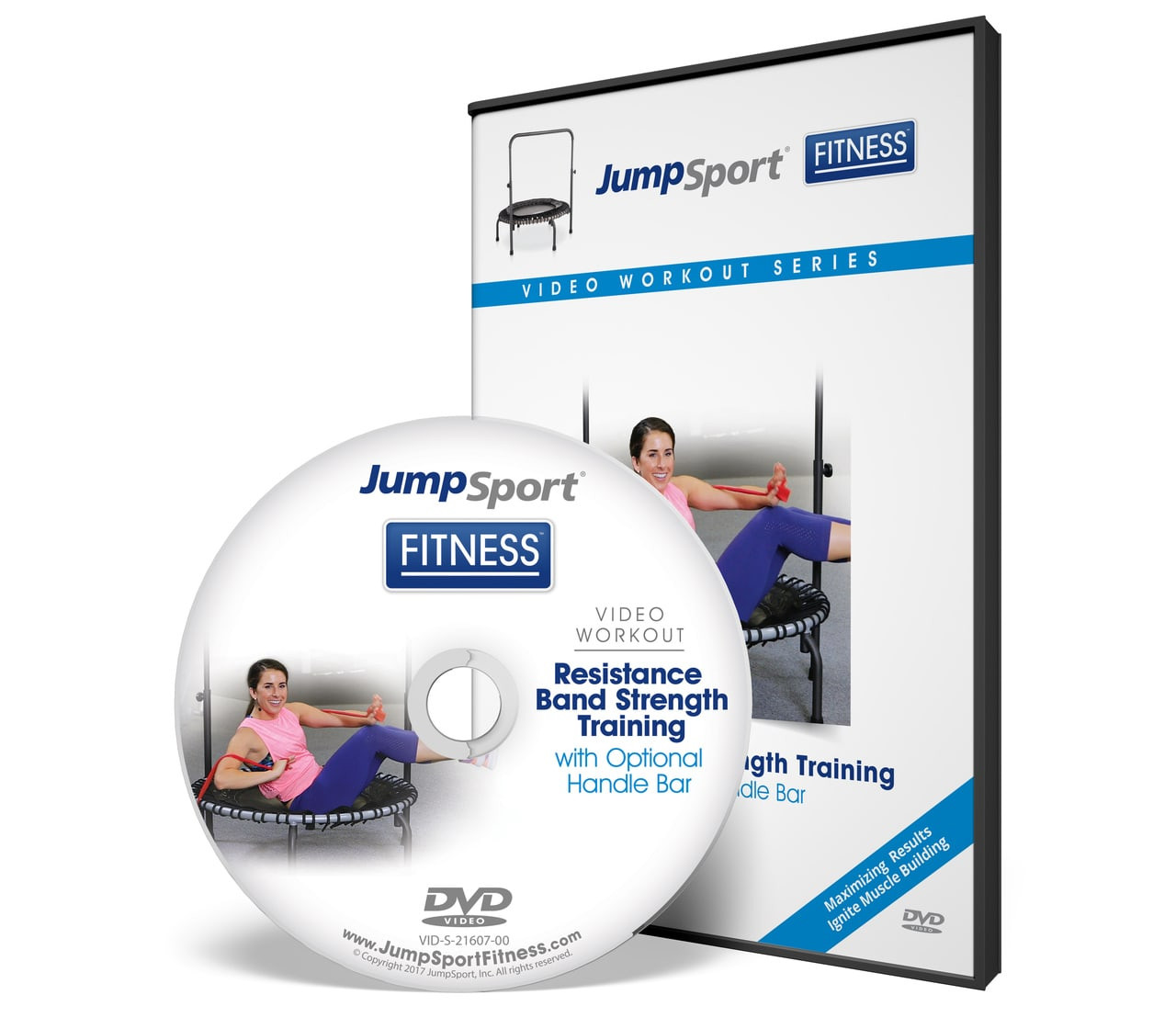 Jumpsport Handle Bar For Trampolines: Resistance Band Strength Training Handle Bar Workout DVD