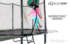 AlleyOOP PowerBounce 10' × 17' Rectangular Trampoline with Enclosure