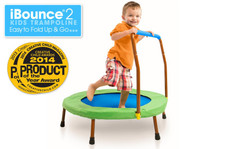 iBounce 2 Kids Trampoline. Easy to Fold up and Go