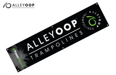 "AlleyOOP Black Tall Banners – 18"" × 72"""