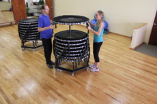 Rolling Storage Cart for JumpSport Fitness Trampolines