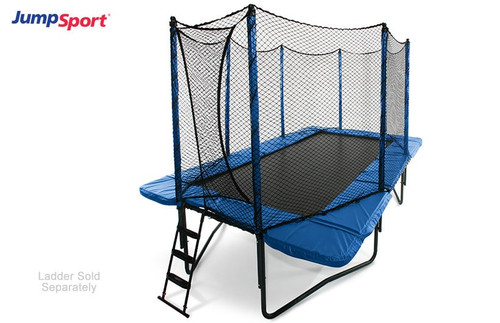 10'×17' Rectangular Trampoline with Enclosure