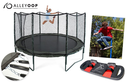 AlleyOOP PowerBounce 14' Trampoline & BounceBoard Bundle