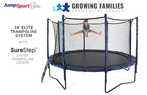 Elite 14' Trampoline & Ladder Bundle