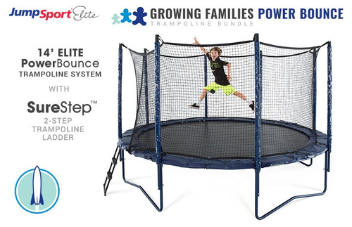 Elite PowerBounce 14' Trampoline & Ladder Bundle