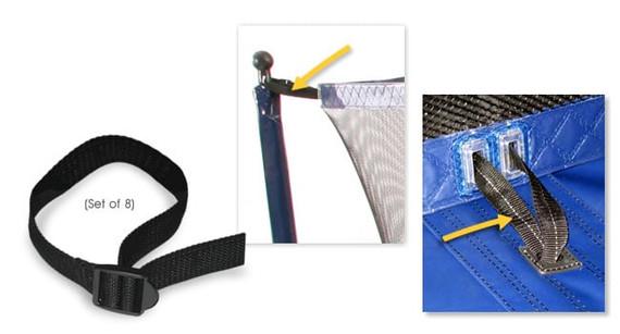 Net Strap Kit •— Short (set of 8)
