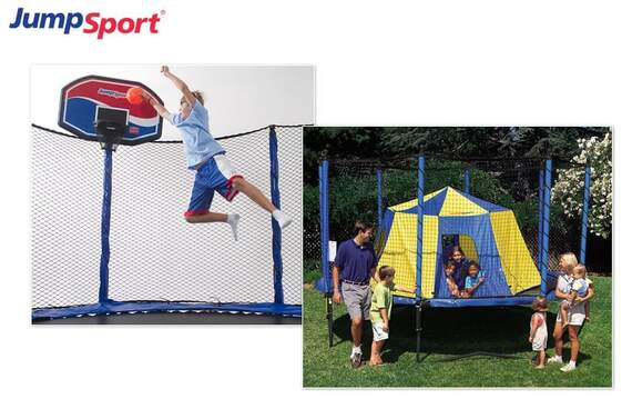 Summer Fun Pack - Trampoline Basketball Hoop & Tent