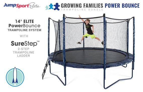 Elite PowerBounce 14' Trampoline & Ladder Bundle