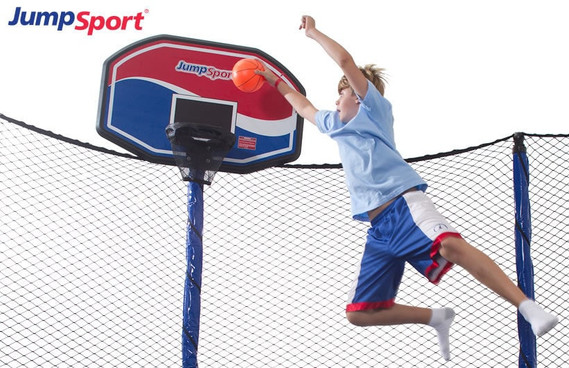 PowerBounce 14' Trampoline & Basketball Hoop Bundle