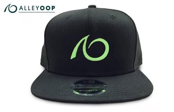 AlleyOOP Logo Flat Brim Snapback Hat - Black