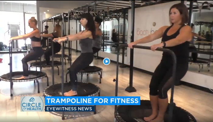 Mini Trampolines tighten core muscles + give the lymphatic system a circulation boost