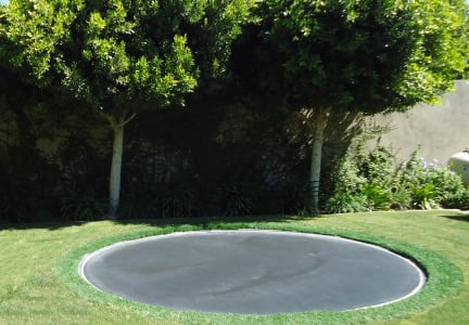 in ground trampoline installation jumpsport. Black Bedroom Furniture Sets. Home Design Ideas