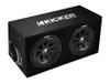 Kicker Comp 12-Inch Dual Subwoofer Enclosure - 43DC122