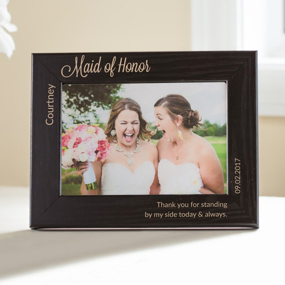 Personalized Bridesmaid Black Picture Frame