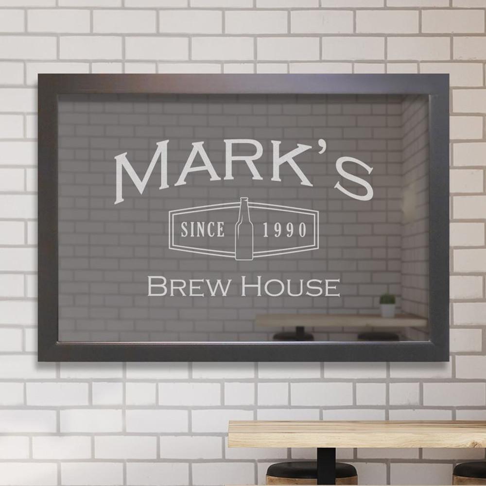 Custom bar mirror - Brew House