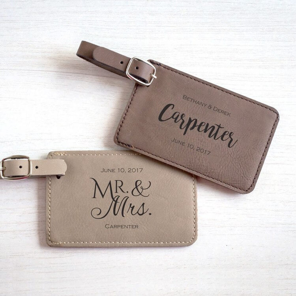 Personalized Wedding Luggage Tag Favor