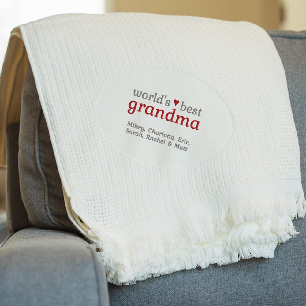 Personalized World's Best Grandma Blanket