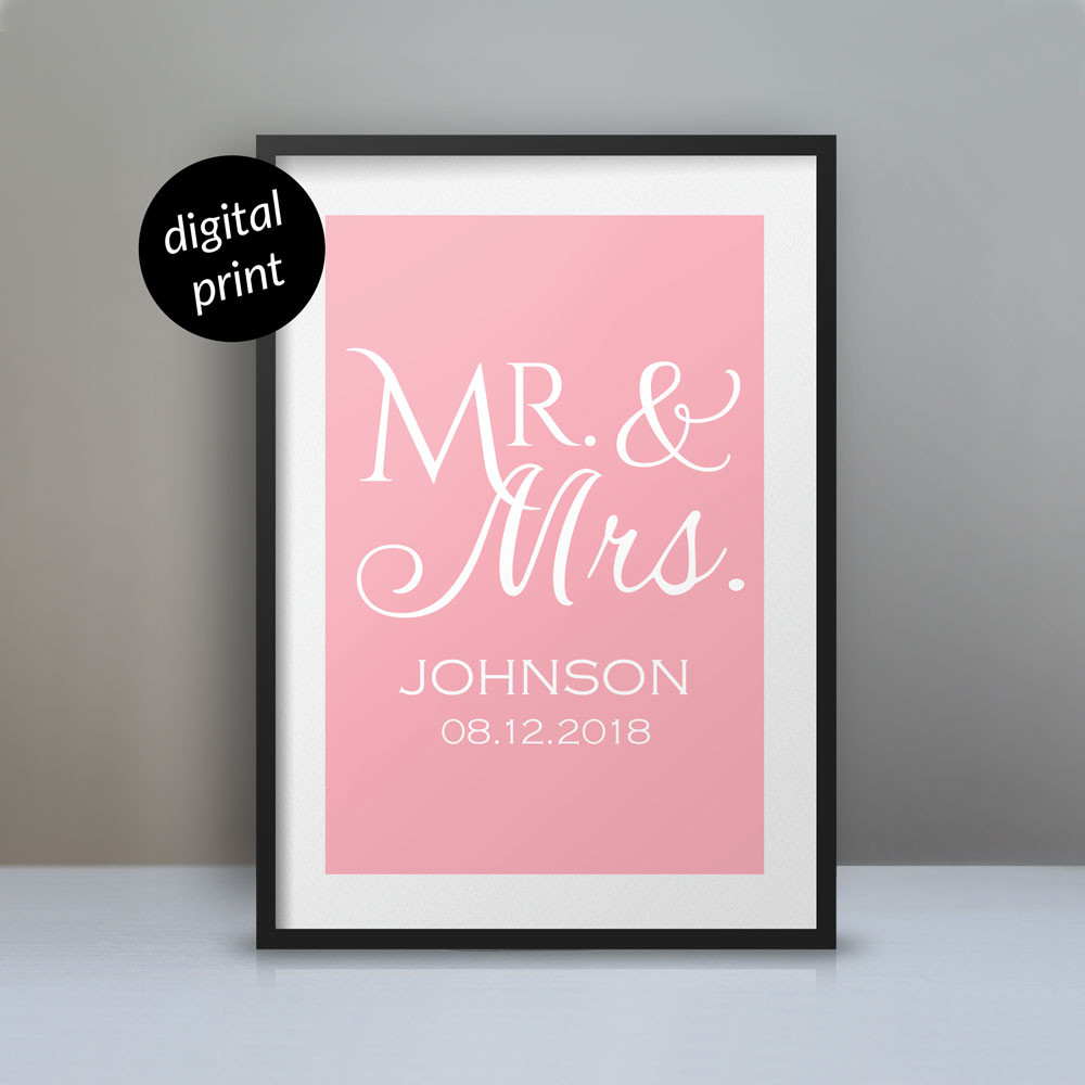 Personalized Mr. & Mrs. Poster - Digital File