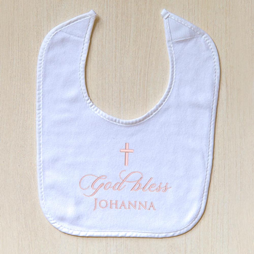 Embroidered Baptism Baby Bib