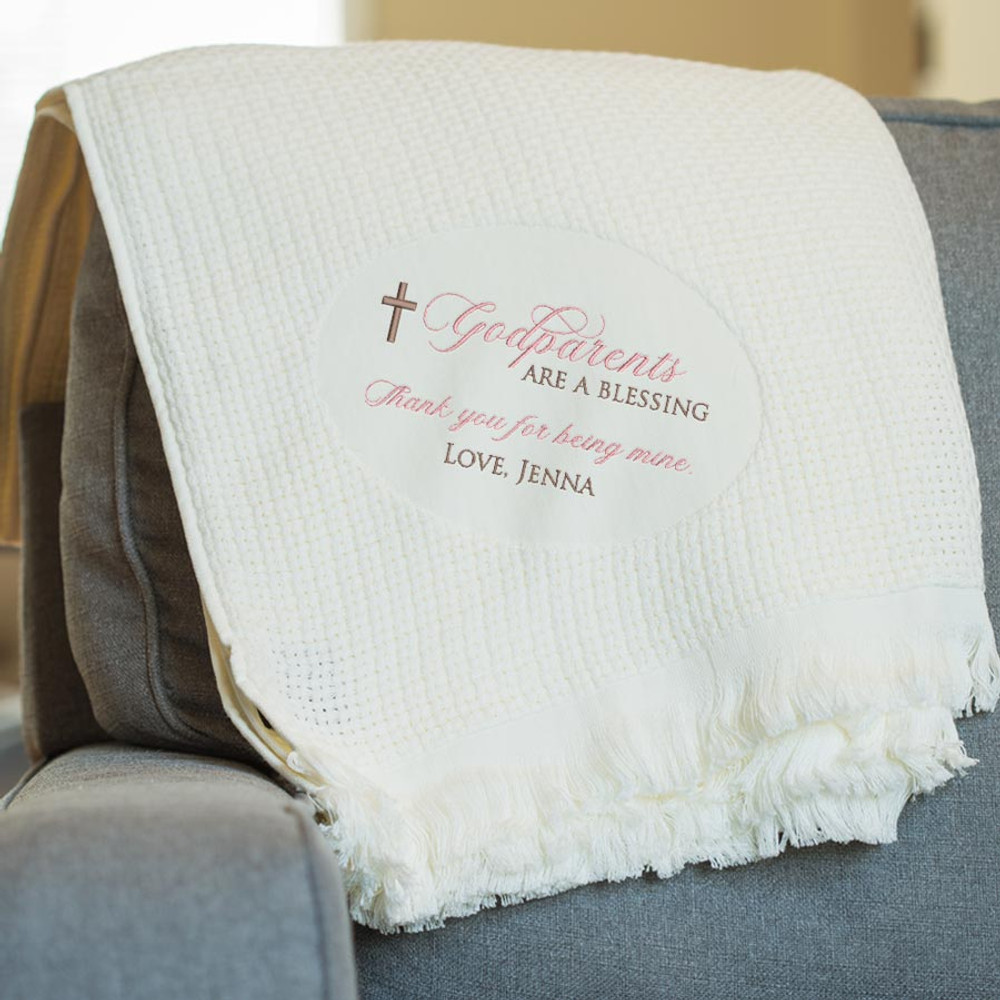 Personalized Godparent blanket