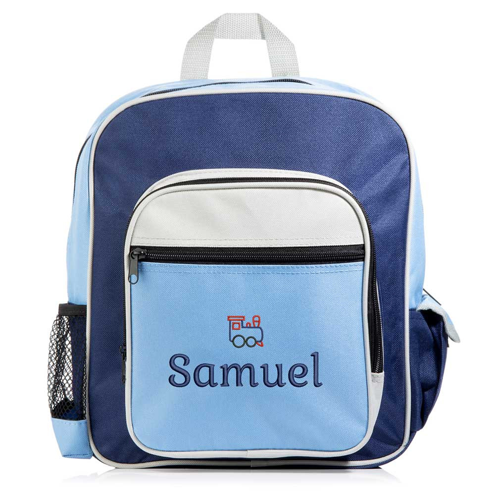 Personalized Kid's Blue Backpack