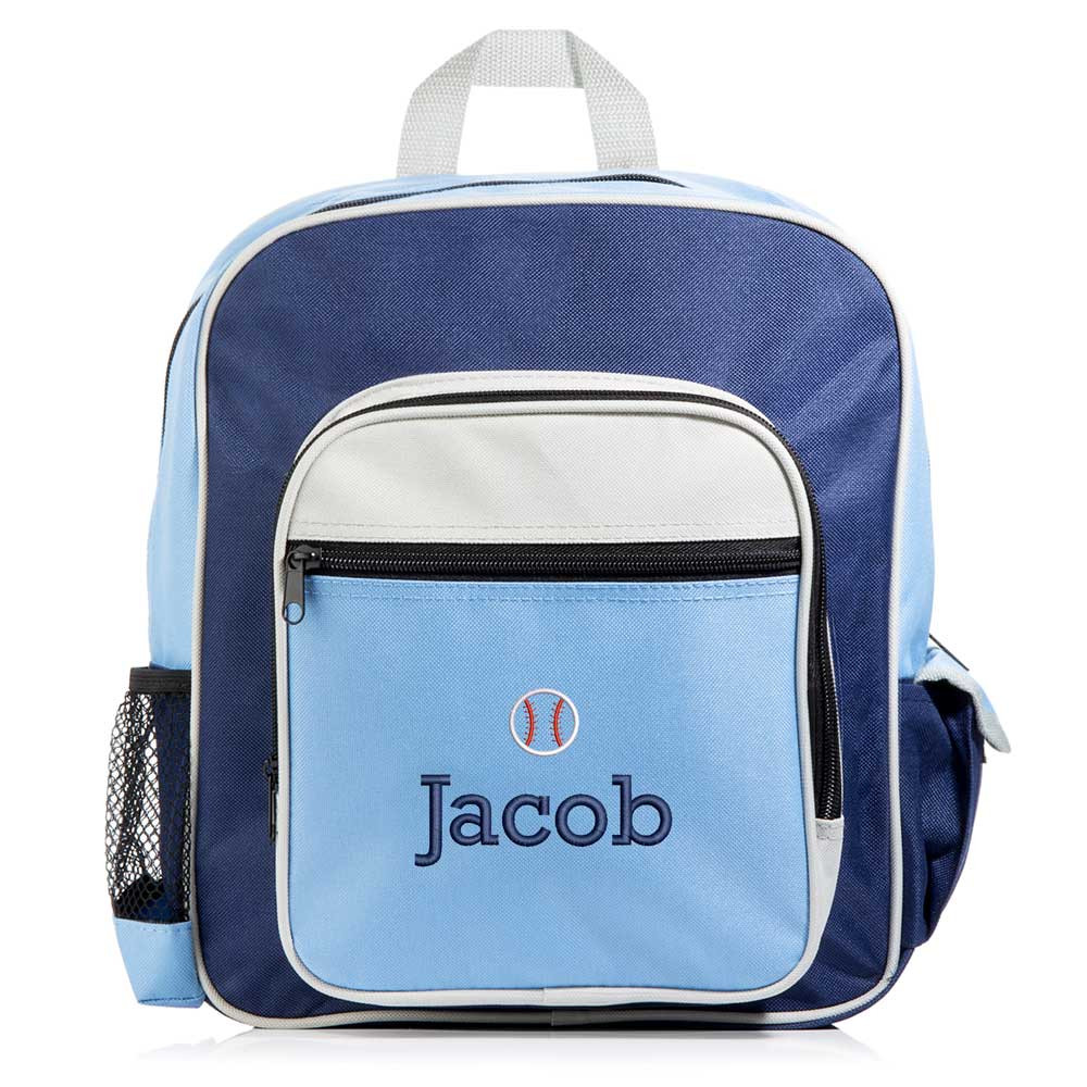 Personalized Kid's Blue Sports Backpack