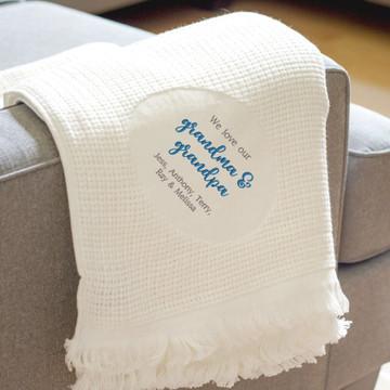 Personalized Grandparents Blanket