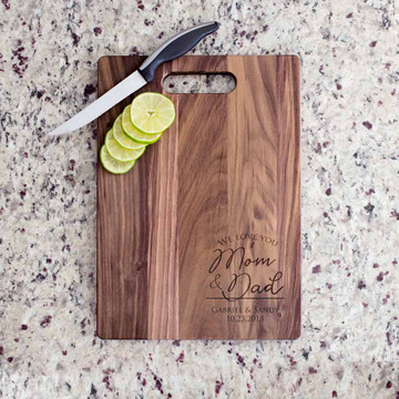 Engraved Personalized Parent of the Bride & Groom Cutting Board