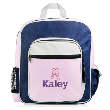 Personalized Kid's Pink Sports Backpack
