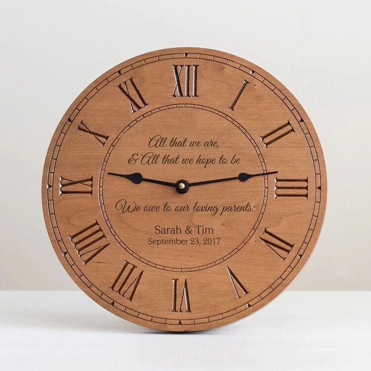 Personalized Parents of the Bride & Groom Clock