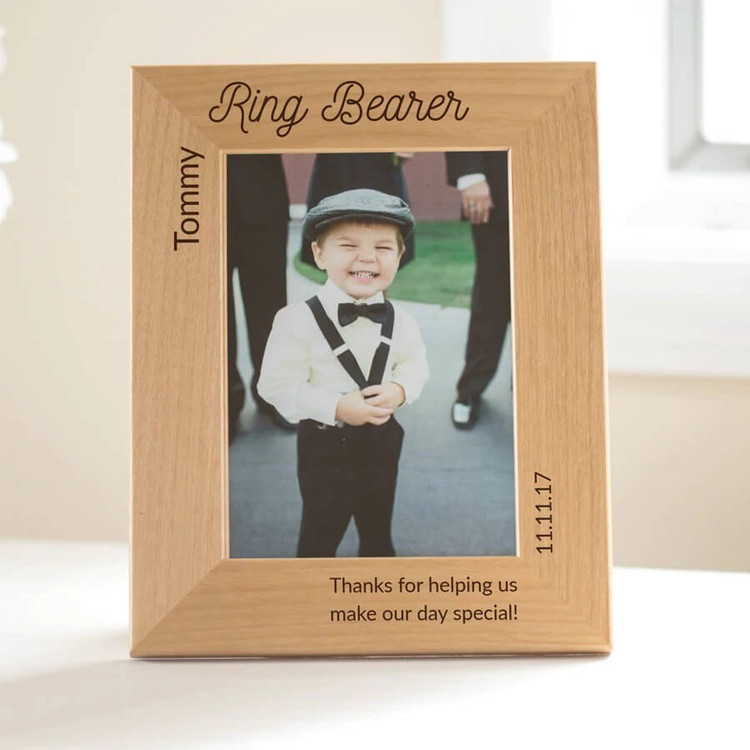 Personalized Ring Bearer picture frame