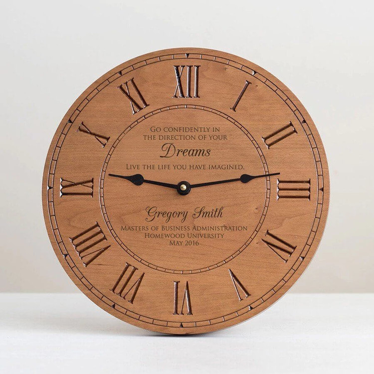 Personalized Graduation Wood Clock