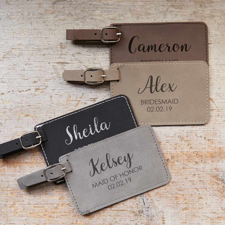 Personalized Wedding Party Luggage Tag