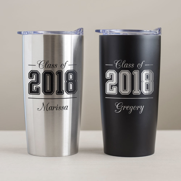 Personalized graduation tumbler