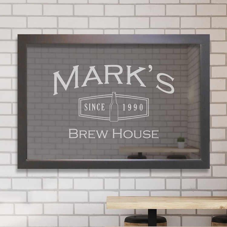 Custom bar mirror - Brew House