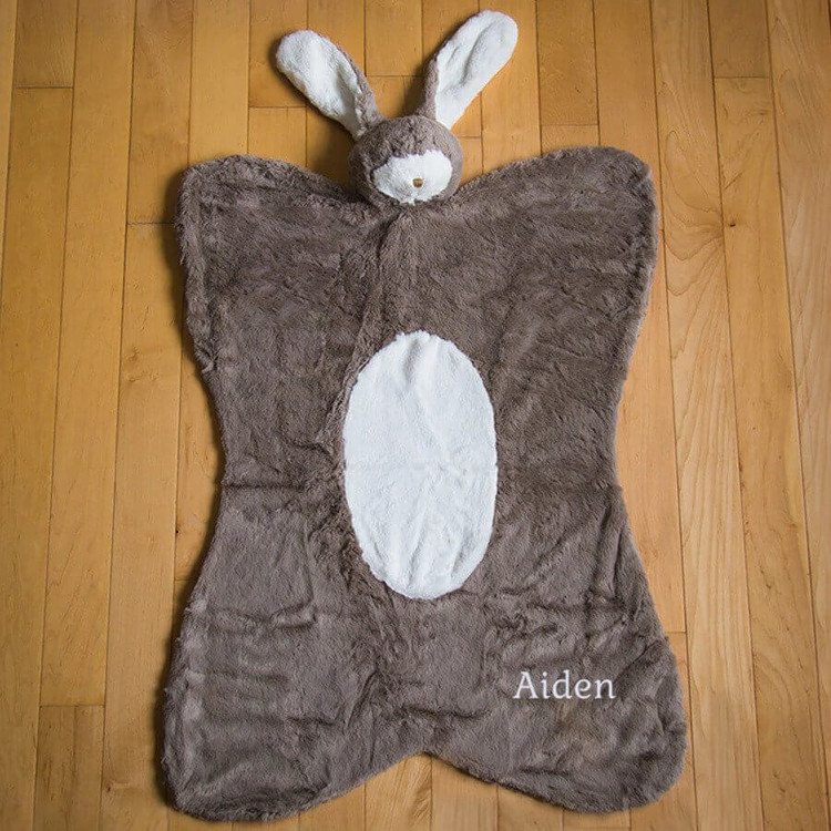 Embroidered Baby Nap Mat - Bunny