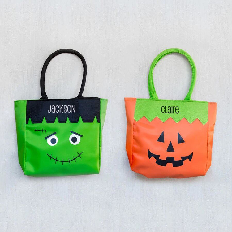Personalized embroidered Halloween bags