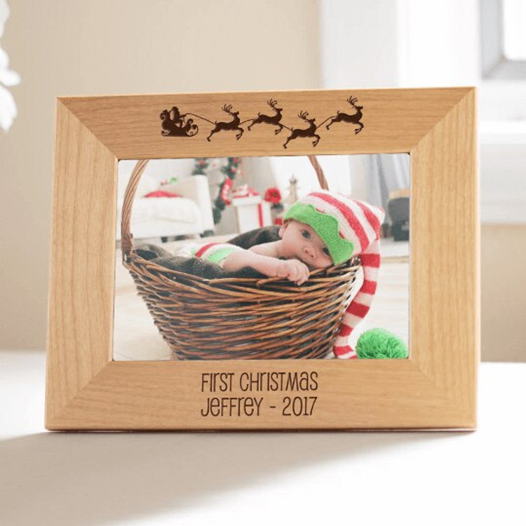 Personalized Baby's First Christmas Picture Frame