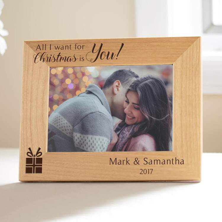 Personalized All I Want For Christmas is You Picture Frame