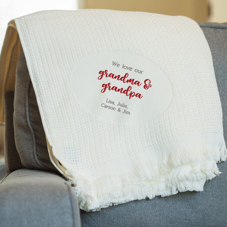 Personalized Grandma & Grandpa Blanket