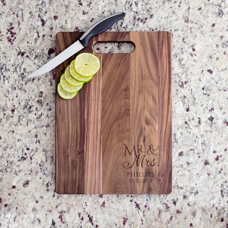 Engraved Personalized Mr. & Mrs. Cutting Board