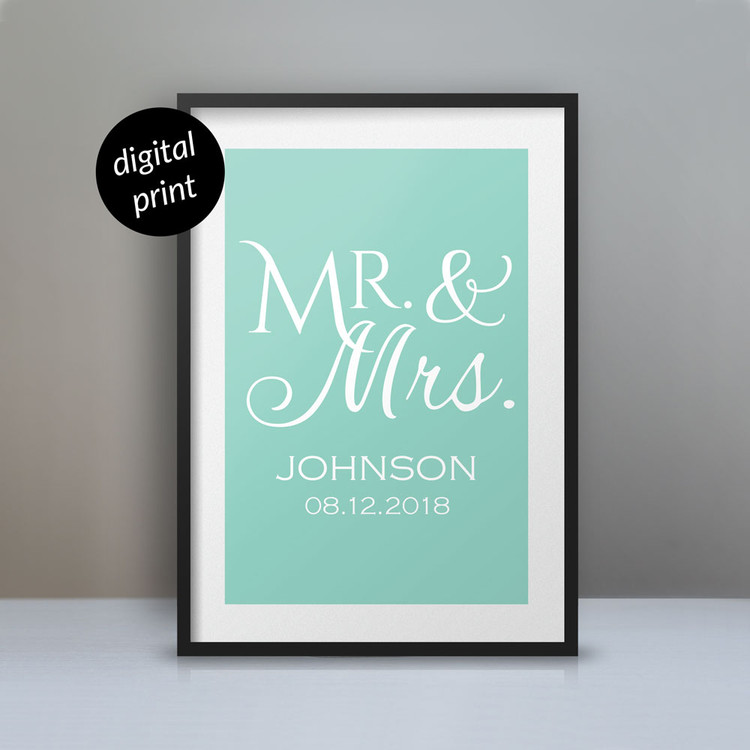 Personalized Mr. & Mrs. Poster digital file