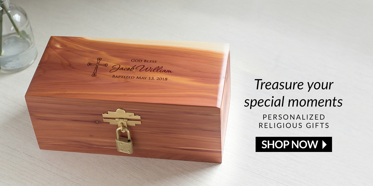 Treasure your special moments. Shop personalized religious gifts.