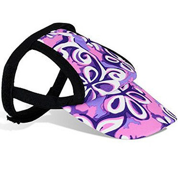 32a8443f93d Floral Swirl Purple Sun Protective Dog Visor Hats for Dogs