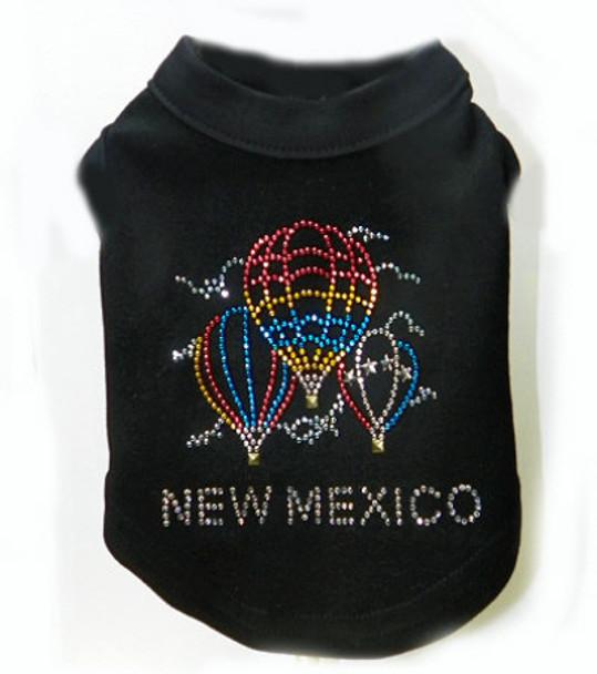 Hot Air Balloon New Mexico Rhinestone Dog Tank