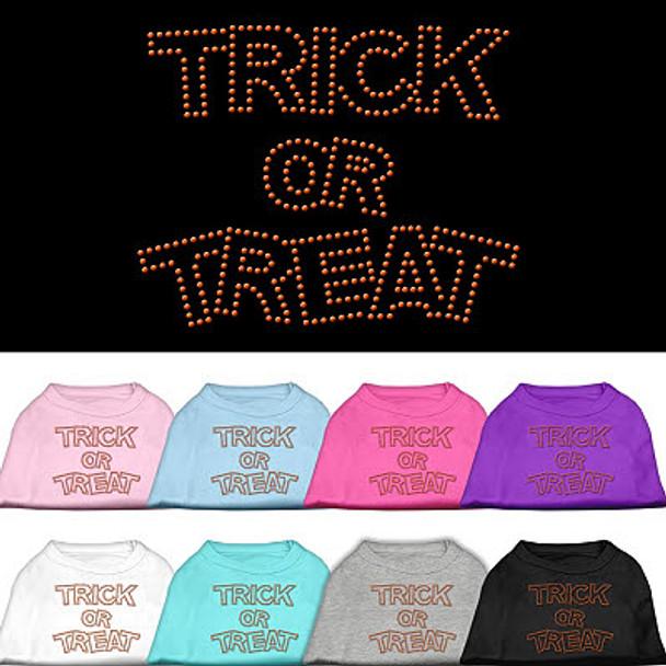 Trick or Treat Halloween Rhinestones Dog Tee Shirt