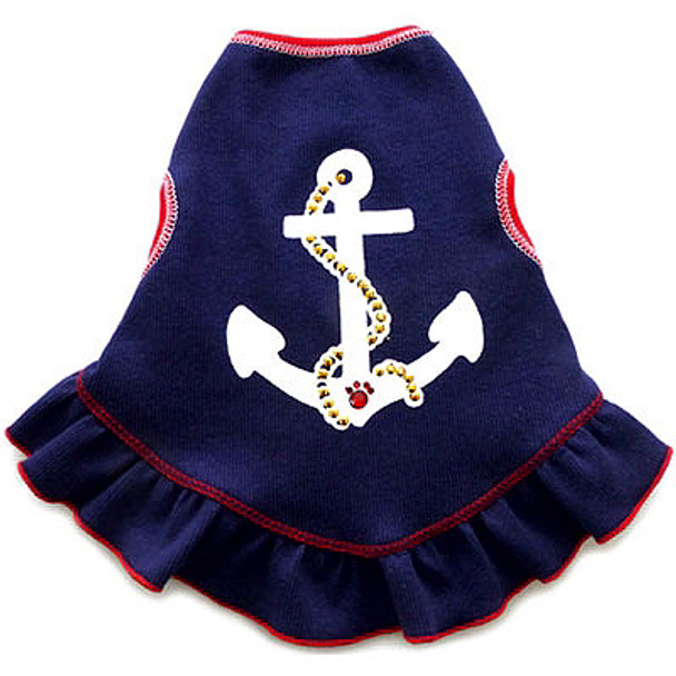 Anchors Away Dog Dress by I See Spot