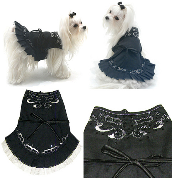 Midnight in Paris Dog Dress by Oscar Newman