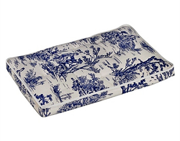 Wedgewood Blue Toile Luxury Dog Crate Mattress